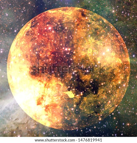 Planet Venus. Cosmos art. Elements of this image furnished by NASA.