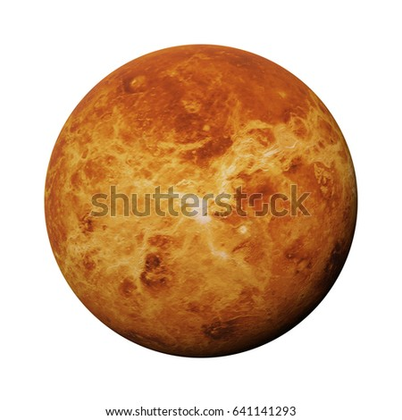planet Venus isolated on white background (3d illustration, elements of this image are furnished by NASA)