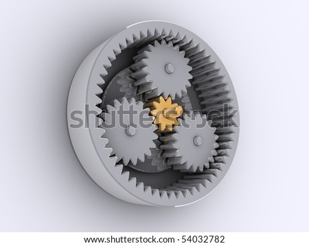 planetary reducer from one golden and three steel gear