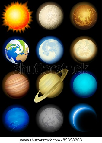 Planets icon - raster version