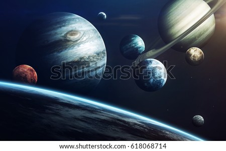 Planets of Solar system. Elements of this image furnished by NASA #618068714