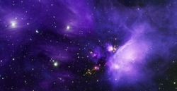 planets, stars and galaxies in outer space showing the beauty of space exploration. Elements furnished by NASA . - Image