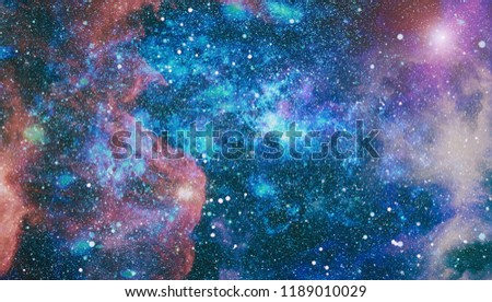 planets, stars and galaxies in outer space showing the beauty of space exploration. Elements furnished by NASA #1189010029