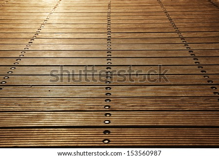 Plank background with diminishing perspective