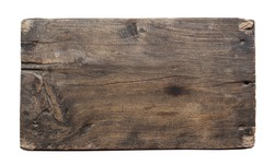 plank of old wood isolated on white background with Clipping Path.
