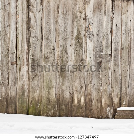 plank wall background - stock photo