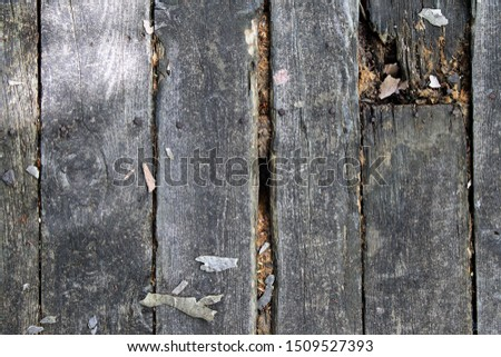 planks of an old floor covering