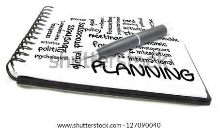 planning process wordcloud