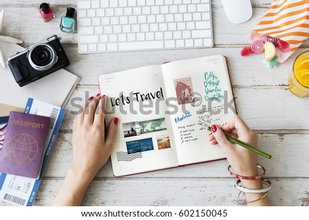 Planning traveling trip notes wanderlust  #602150045