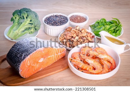 Plant-based and animal sources of Omega-3 acids #221308501