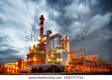 Plant oil and gas industry.