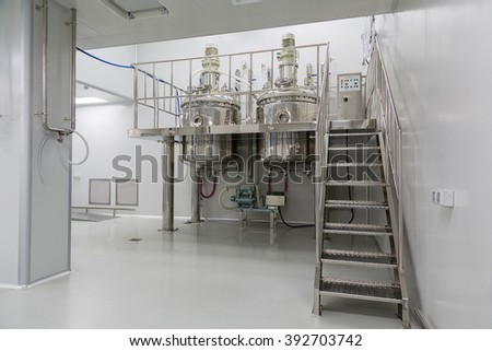 plant picture, clean room equipment and stainless steel machines