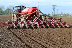 Planting corn trailed planter