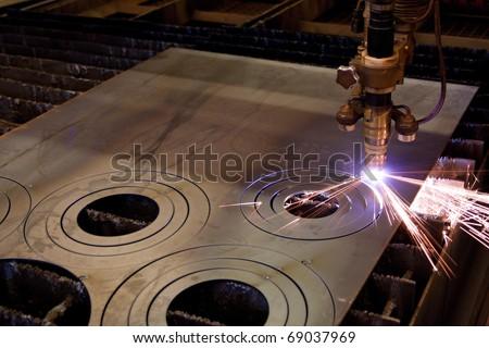 Plasma cutting - stock photo