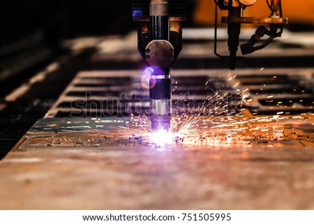 Plasma cutting Machine cutting steel sheet #751505995