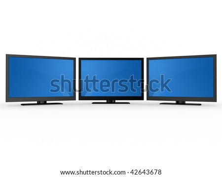 Plasma LCD HDTV Display on a white background