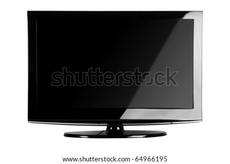 Plasma / LCD TV Front Shot Isolate on White Background