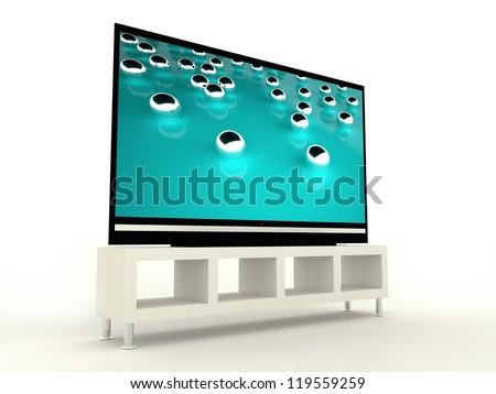 Plasma TV with beautiful tirkis screen