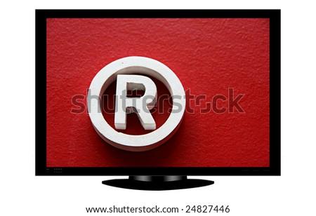 plasma with trademark symbol - illustration