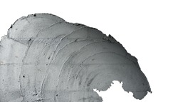 Plaster Cement Texture Surface, Building and Construction Process, Isolated with Clipping Path
