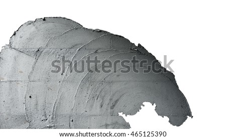 Plaster Cement Texture Surface, Building and Construction Process, Isolated with Clipping Path #465125390