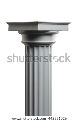 plaster column on a white background isolated #442331026