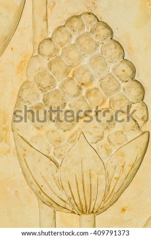 Free Plaster craft for decorative wall with lotus background ...