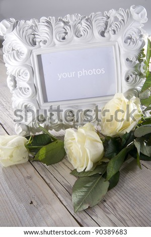 plaster frame - stock photo