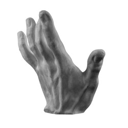 plaster limb male hand with fingers, body part