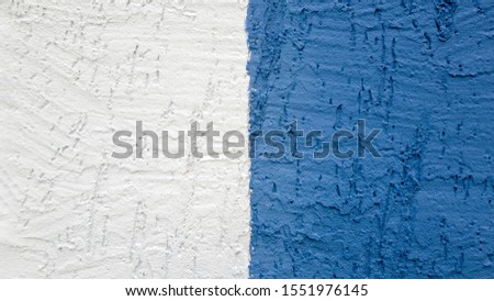 Plaster stripe white stripe blue textured, abstract background. #1551976145