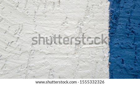 Plaster stripe white stripe blue textured, abstract background. #1555332326