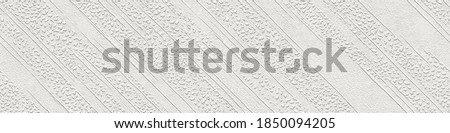 Plaster wall seamless texture with diagonal pattern, grunge background, long texture, 3d illustration Foto stock ©