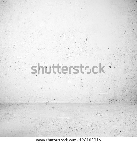 Plaster white industrial room surface