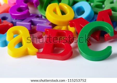 Plastic alphabet letters