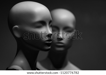 plastic and artificial model, mannequin. fashion and beauty, shopping, no makeup, business, partnership and team work, ai, robotic technology