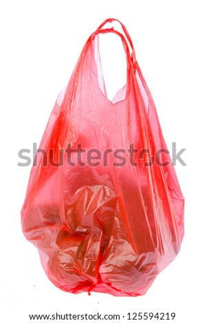 Plastic bag on isolated background