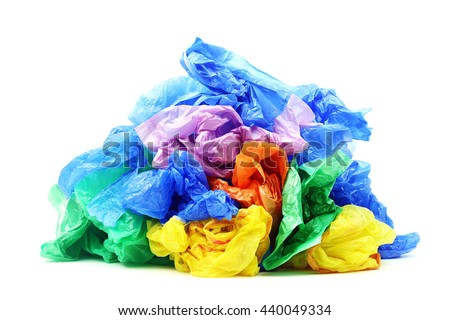 Plastic bags isolated on a white background #440049334