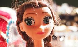 Plastic big eyed girl dolls sold in antique market