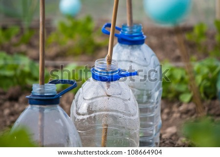 Plastic bottle cloches