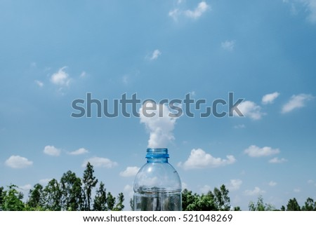 Plastic Bottle Factory Smoke Cloud Idea Inspiration for World Campaign #521048269