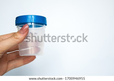 plastic bottle for delivery of urine.white background isolated Stockfoto ©