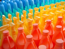 Plastic bottle from many type of polymer. End use plastic will be waste but it can get back to recycle to be raw materials.