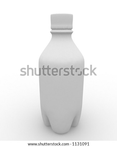 plastic bottle left blank for your message