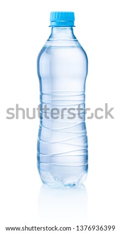 Plastic bottle of drinking water isolated on white background #1376936399