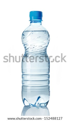 plastic bottle of water on a white background #152488127