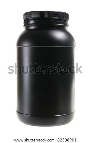 Plastic Bottle on White Background