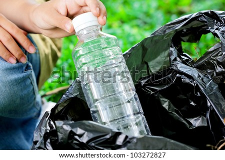 Plastic bottle waste,for recycling