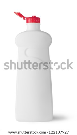 Plastic bottle with cap isolated on white background
