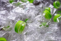 plastic bottles recycle background concept