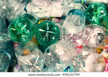 plastic bottles,Recycle waste management concept.